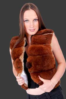 Our Baby Alpaca Fur Vest is handmade by skilled artisans